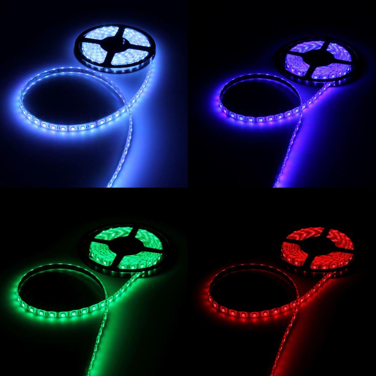 Светодиодная лента Luazon, 12В, SMD5050, длина 5 м, IP68, 60 LED ламп, 14.4 Вт/м, 14-16 Лм/1 LED, DC, цвет: мультиколор883962Светодиодные гирлянды, ленты и т.д — это отличный вариант для новогоднего оформления интерьера или фасада. С их помощью помещение любого размера можно превратить в праздничный зал, а внешние элементы зданий, украшенные ими, мгновенно станут напоминать очертания сказочного дворца. Такие украшения создают ауру предвкушения чуда. Деревья, фасады, витрины, окна и арки будто специально созданы, чтобы вы украсили их светящимися нитями.