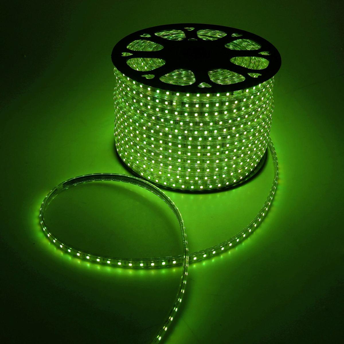 Светодиодная лента Luazon, 220В, SMD5050, длина 100 м, IP65, 60 LED ламп, 14.4 Вт/м, 16-18 Лм/1 LED, AC, цвет: зеленый ac 65 автостоп