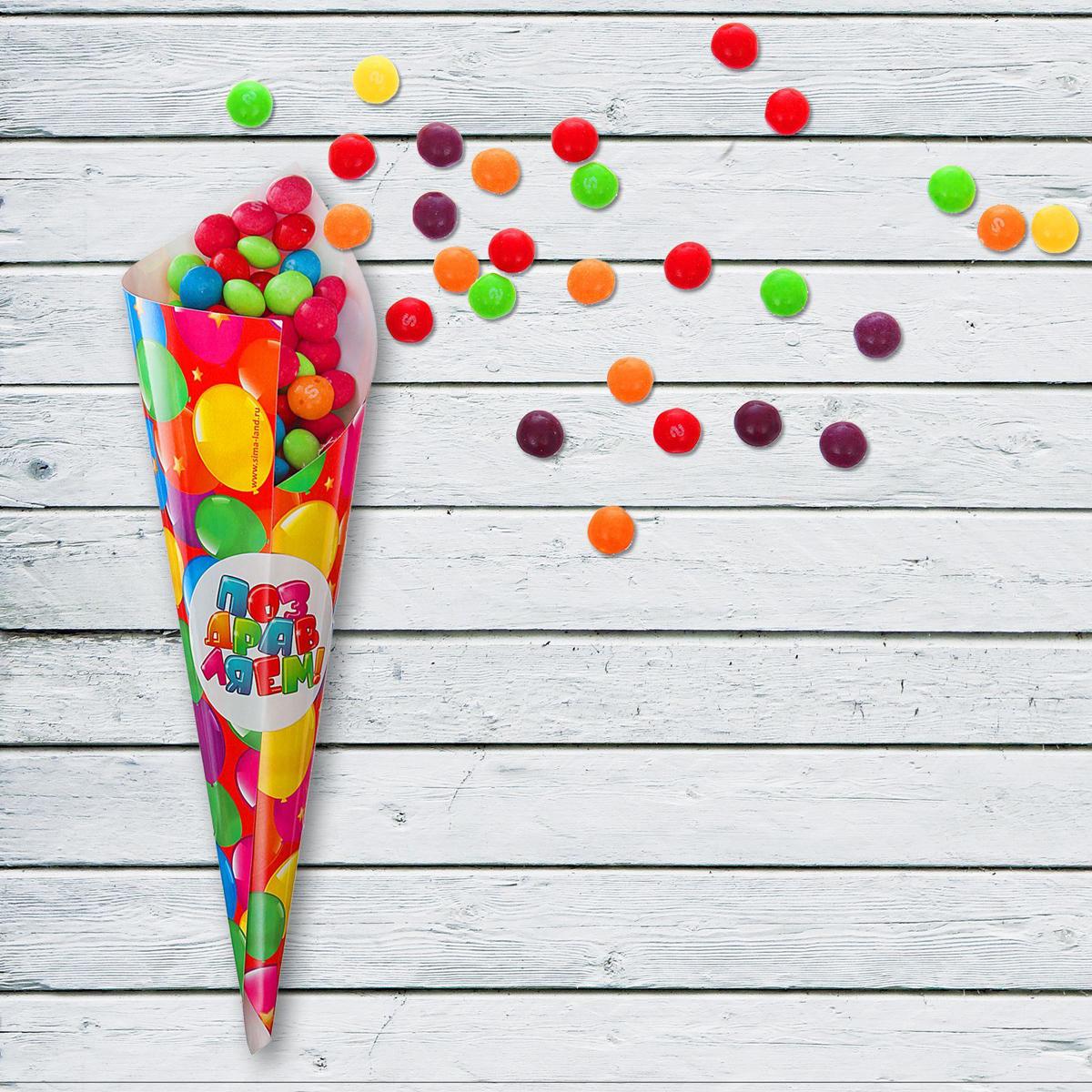 Страна Карнавалия Кулек для праздника Веселый День Рождения Шарики с наклейкой 6 шт