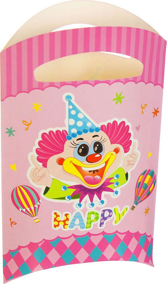 Страна Карнавалия Пакет подарочный Клоун цвет розовый 14 x 24 см 6 шт