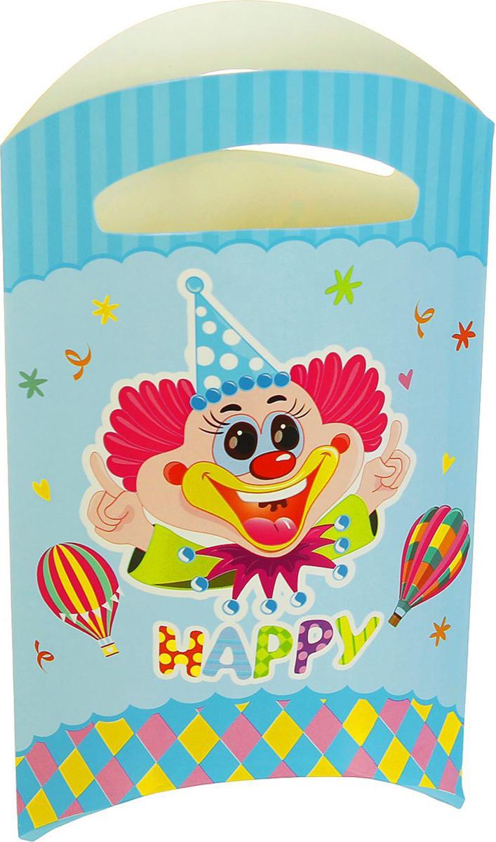 Страна Карнавалия Пакет подарочный Клоун голубой цвет 14 x 24 см 6 шт 1652841 -  Подарочная упаковка