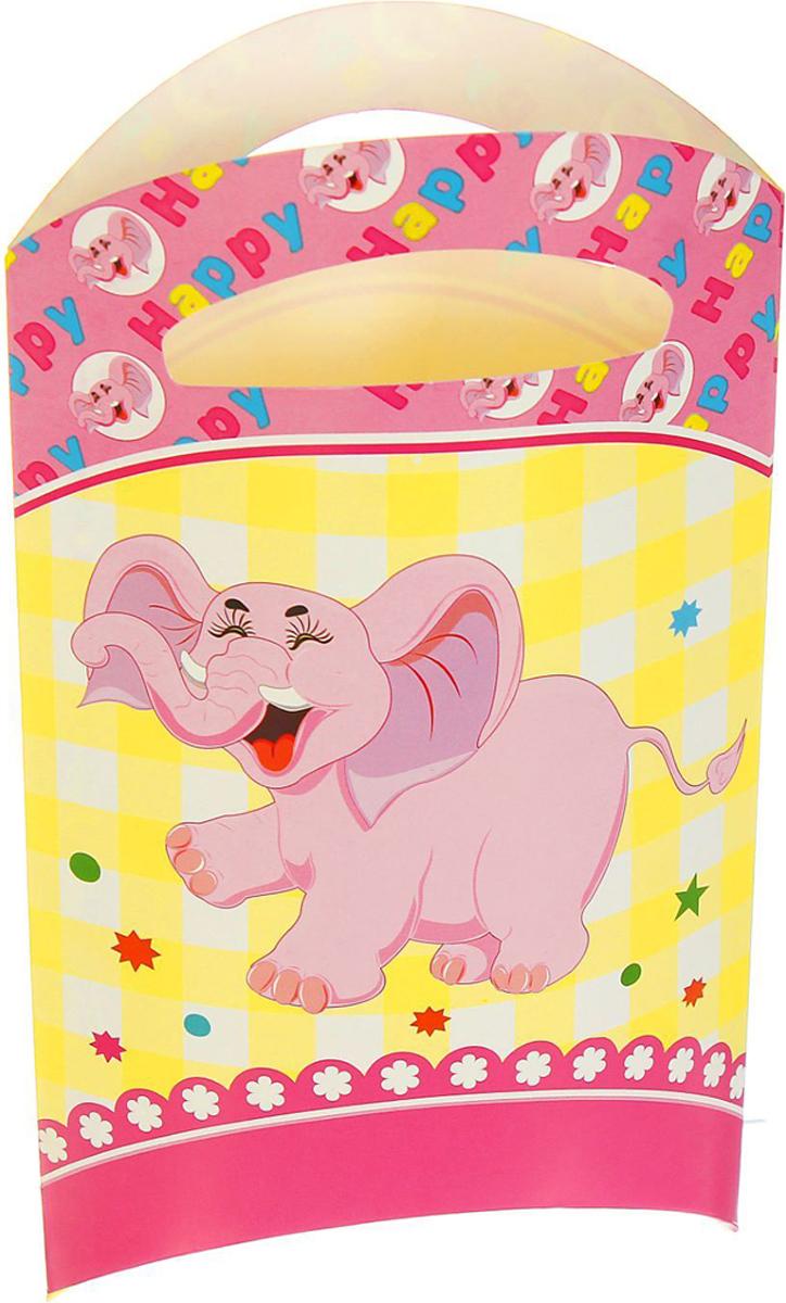 Страна Карнавалия Пакет подарочный Слоник розовый цвет 14 x 24 см 6 шт 1652844