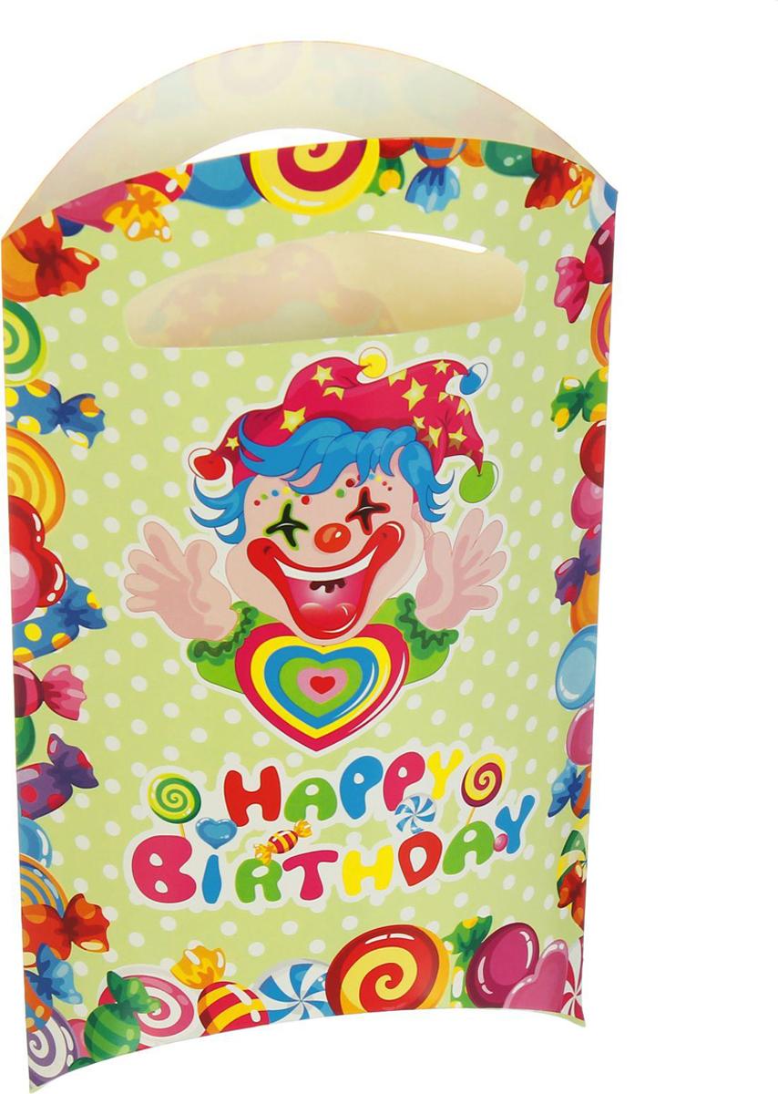 Страна Карнавалия Пакет подарочный Клоун с сердцем 14 x 24 см 6 шт 1652845 -  Подарочная упаковка