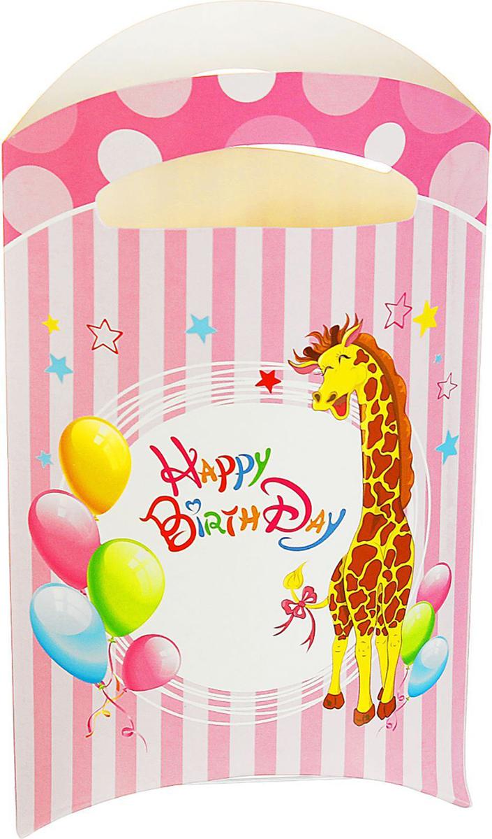 Страна Карнавалия Пакет подарочный Жирафик розовый цвет 14 x 24 см 6 шт 1652846