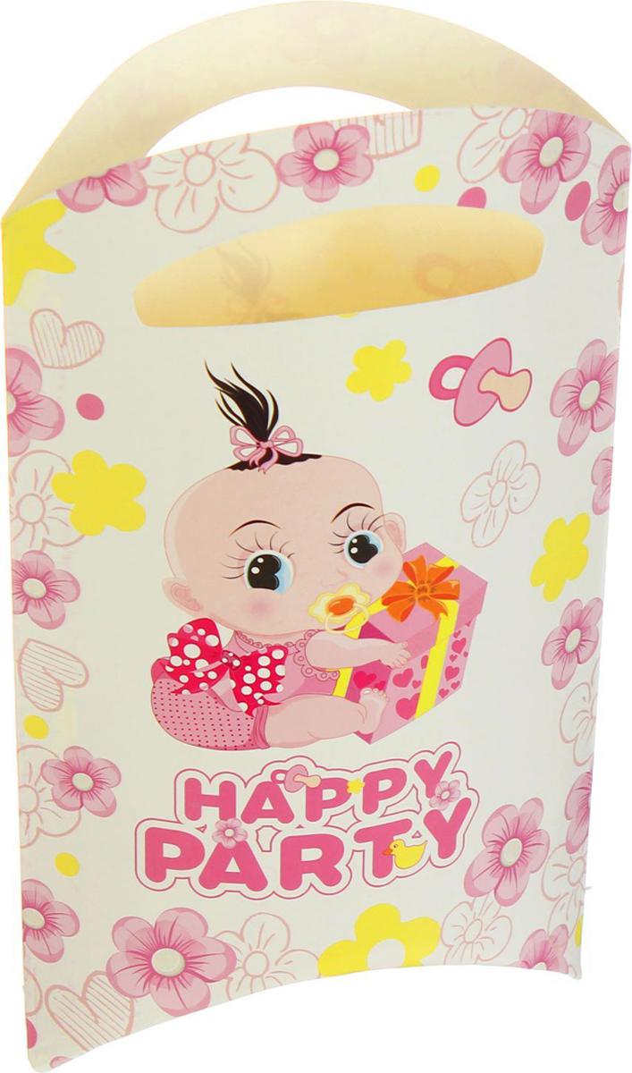 Страна Карнавалия Пакет подарочный Карапуз розовый цвет 14 x 24 см 6 шт 1652849