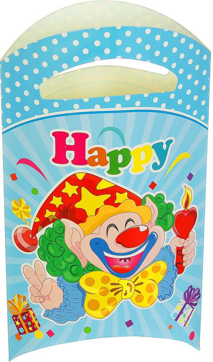 Страна Карнавалия Пакет подарочный Клоун со свечой цвет голубой 14 x 24 см 6 шт 1652851