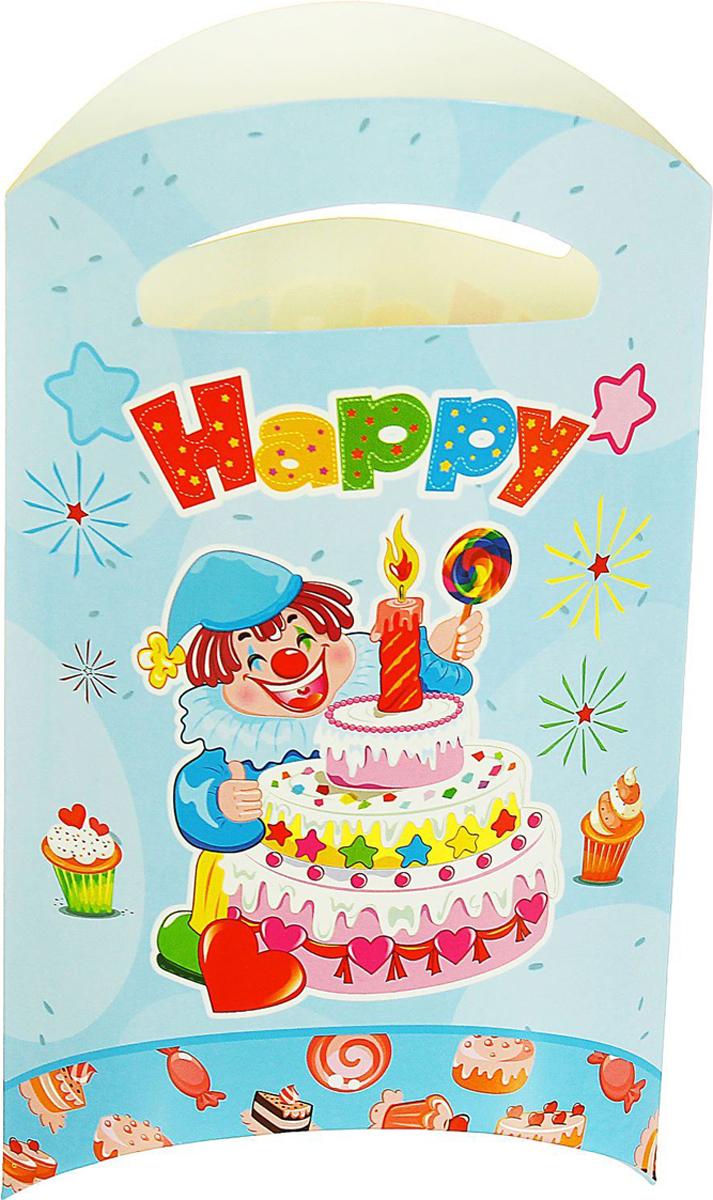 Страна Карнавалия Пакет подарочный Клоун с тортом цвет голубой 14 x 24 см 6 шт 1652853