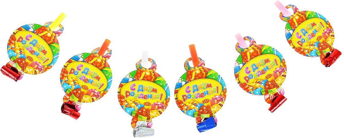 Страна Карнавалия Язычок-кругляш 7 см С Днем Рождения! 6 шт 311127