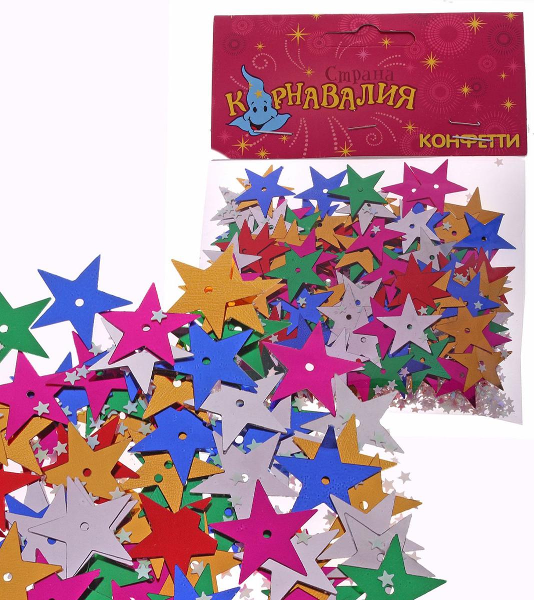 Конфетти Страна Карнавалия Звезды, 14 г321608Невозможно представить нашу жизнь без праздников! Мы всегда ждем их и предвкушаем, обдумываем, как проведем памятный день, тщательно выбираем подарки и аксессуары, ведь именно они создают и поддерживают торжественный настрой. Новогодние аксессуары — это отличный выбор, который привнесет атмосферу праздника в ваш дом!