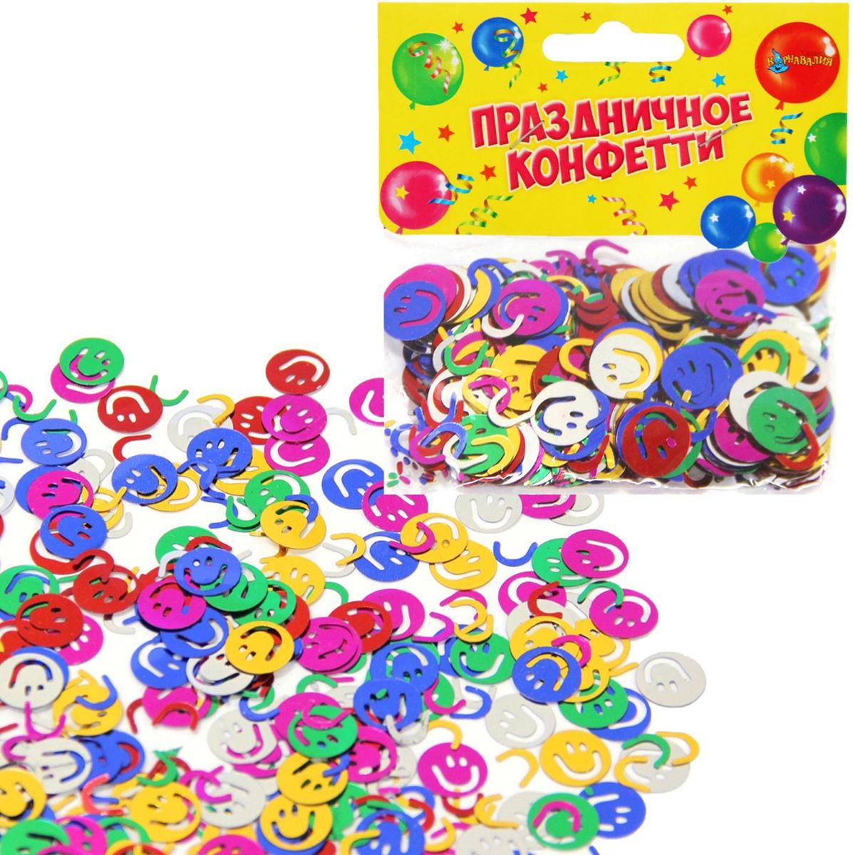 Страна Карнавалия Карнавал конфетти цветные смайлики 14 г 324194