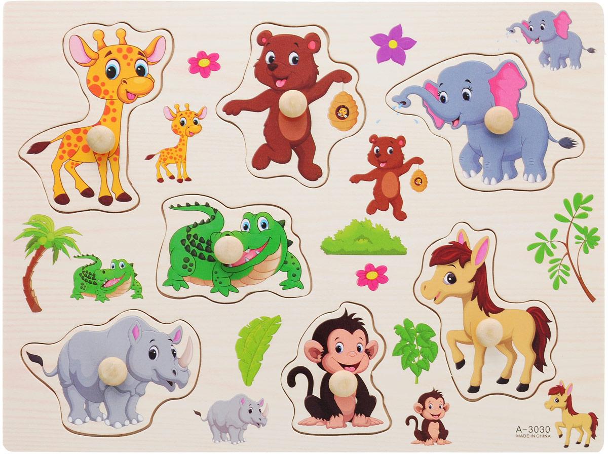 Фабрика Фантазий Пазл для малышей Животные Вид 1 фабрика фантазий пазл для малышей рамка вкладыш животные
