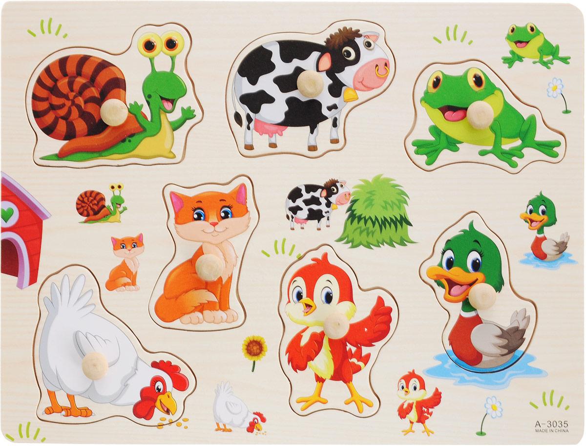 Фабрика Фантазий Пазл для малышей Животные Вид 3 фабрика фантазий пазл для малышей рамка вкладыш животные