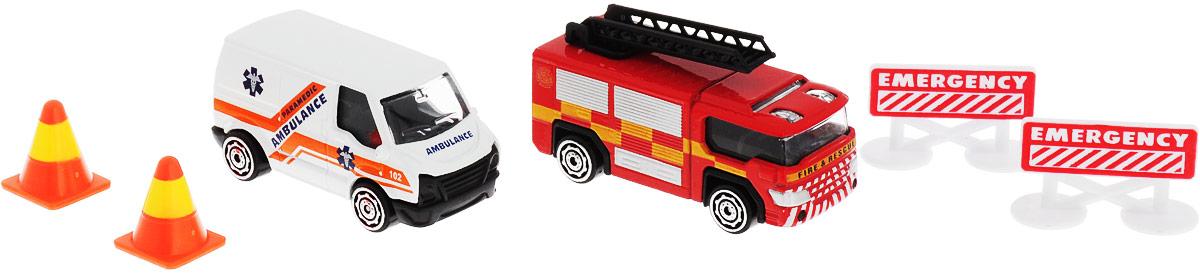 HTI Набор машинок Roadsterz Транспорт спасателей hti мусоровоз roadsterz