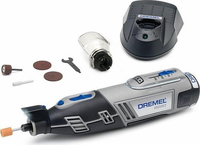 Аккумуляторный многофункциональный инструмент Dremel 8220-1/5, 12V, 1 АКБ, ЗУ. F0138220JDF0138220JDDremel 8220-1/5 - стартовая модель в линейке беспроводных инструментов Dremel 8220. Максимальная портативная мощность с Li-Ion аккумулятором!Выполняйте любые проекты как внутри, так и снаружи дома с помощью одного инструмента. Светодиодная подсветка освещает рабочую зону и позволяет работать даже в плохо освещенных местах. Переходите от резки и шлифовки к абразивной обработке, просто сменив насадку, и будьте уверены в высочайшей точности выполнения работ. Аккумулятор и зарядное устройство полностью совместимы с линейкой Bosch 10.8 / 12 V Li-Ion инструмента для домашних мастеров и садовой техники! Технические характеристики: Напряжение аккумулятора: 12,0 В.Частота вращения шпинделя: 5000-33000 об/мин. Емкость аккумулятора: 2,0 Ач. Время зарядки: 1 ч. Регулировка скорости.Система быстрой смены принадлежностей EZ Twist. В комплектацию входят 5 насадок Dremel, 1 приставка, 1 АКБ Li-Ion 12В 2 А/ч, зарядное устройство, картонная коробка.