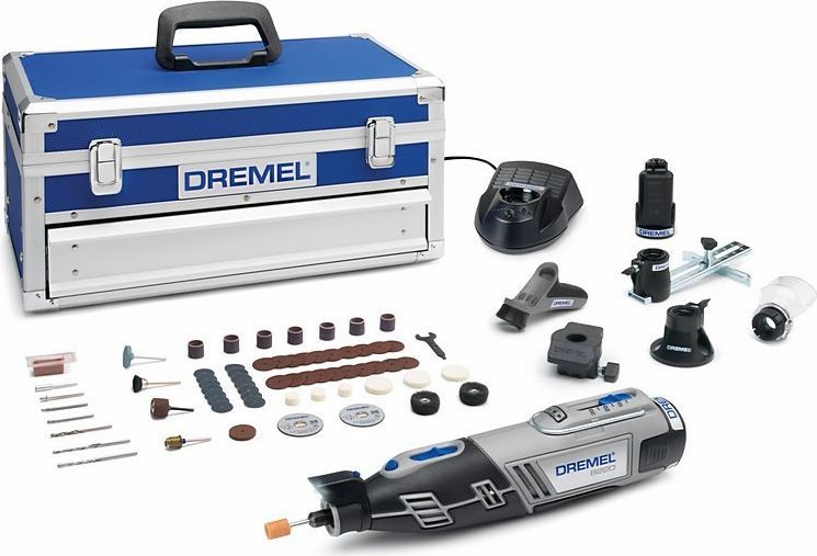 Многофункциональный инструмент Dremel 8220-5/65 Platinum, аккумуляторный, 12V. F0138220JNF0138220JNМногофункциональный инструмент Dremel 8220-5/65 Platinum - премиальная модель в линейке беспроводных инструментов Dremel 8220. Изделие имеет максимальную портативную мощность с Li-Ion аккумулятором. С его помощью можно выполнять любые проекты как внутри, так и снаружи дома. Светодиодная подсветка освещает рабочую зону и позволяет работать даже в плохо освещенных местах. С одним инструментом можно переходить от резки и шлифовки к абразивной обработке, просто сменив насадку, с высочайшей точностью выполнения работ. Аккумулятор и зарядное устройство полностью совместимы с линейкой Bosch 10.8 / 12 V Li-Ion инструмента для домашних мастеров и садовой техники. Технические характеристики: Напряжение аккумулятора 12,0 В; Емкость аккумулятора 2,0 Ач; Время зарядки 1 ч; Габариты инструмента 25 х 4,5 х 6,5 см; Регулировка скорости; Система быстрой смены приналежностей EZ Twist. В комплектацию входят; 75 насадок Dremel, 5 приставок, 2 АКБ Li-Ion 12В 2 А/ч, зарядное устройство, металлический чемонданчик.Как выбрать мультитул. Статья OZON Гид