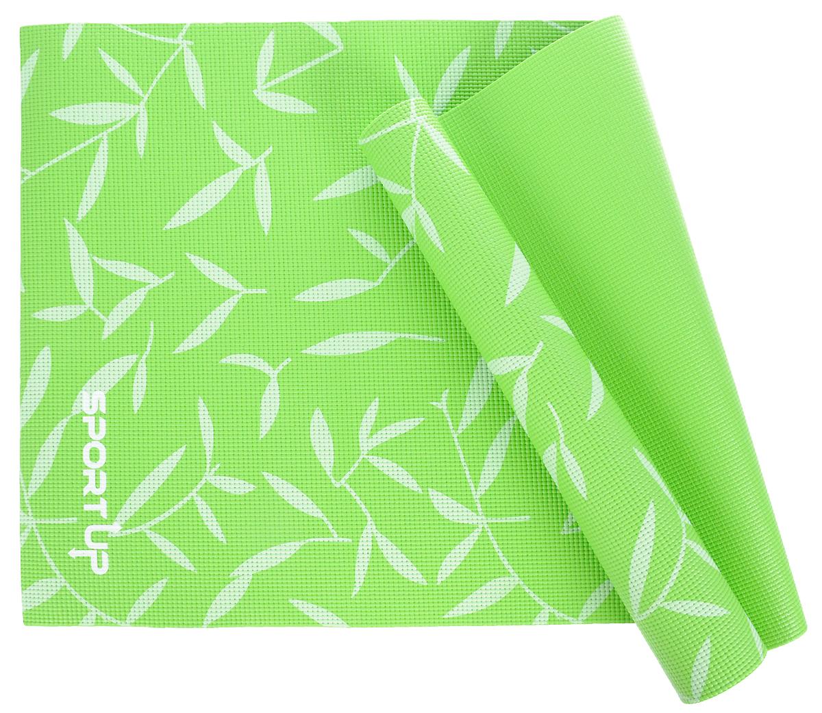 Коврик для йоги Sport UP, цвет: зеленый, 173 х 61 х 0,6 смIR97502/GreenКоврик для йоги Sport UP выполнен из ПВХ, чтобы обеспечить максимальное сцепление с поверхностью и комфорт во время тренировки. Коврик легко сворачивается и его удобно хранить.