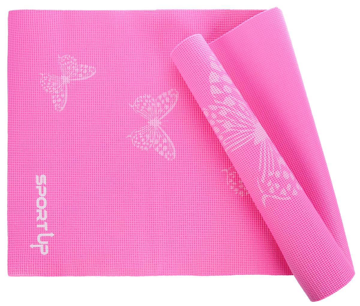 Коврик для йоги Sport UP, цвет: розовый, 173 х 61 х 0,6 см. IR97502IR97502/pinkКоврик для йоги Sport UP выполнен из ПВХ, чтобы обеспечить максимальное сцепление с поверхностью и комфорт во время тренировки. Коврик легко сворачивается и его удобно хранить.