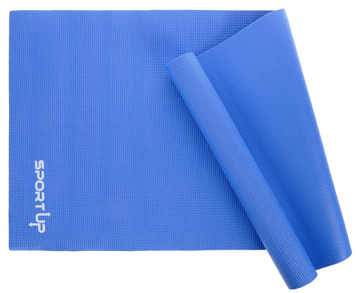 Коврик для йоги Sport UP, цвет: синий, 173 х 61 х 0,6 смIR97501blueКоврик для йоги Sport UP выполнен из ПВХ, чтобы обеспечить максимальное сцепление с поверхностью и комфорт во время тренировки. Коврик легко сворачивается и его удобно хранить.