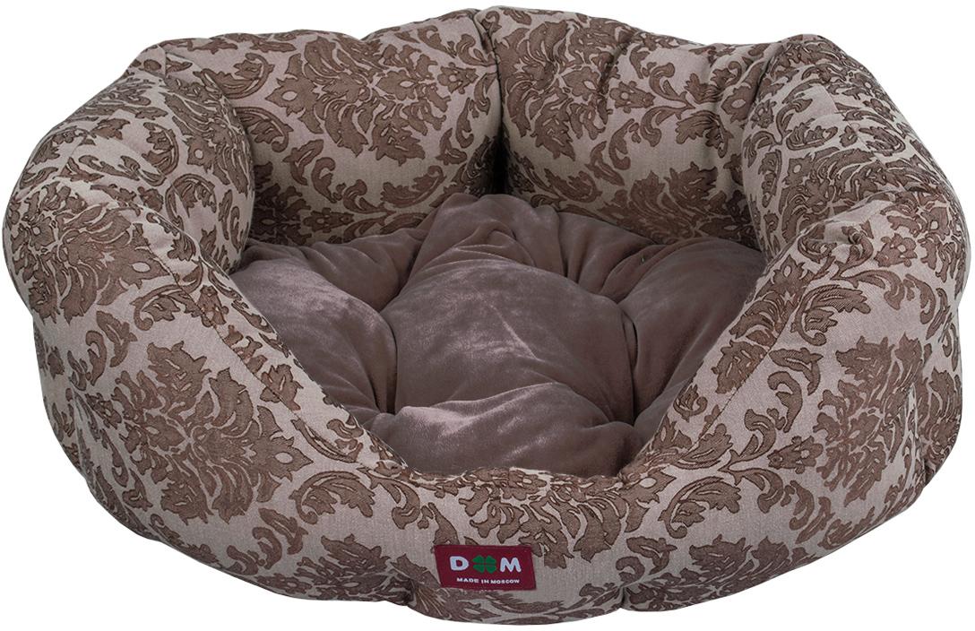 Лежак для животных Dogmoda Ампир, цвет: коричневый, серый, 52 х 44 х 22 см