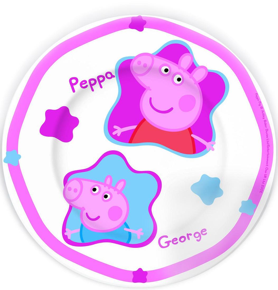 Stor Тарелка детская Свинка Пеппа диаметр 19 см набор посуды для детей stor свинка пеппа