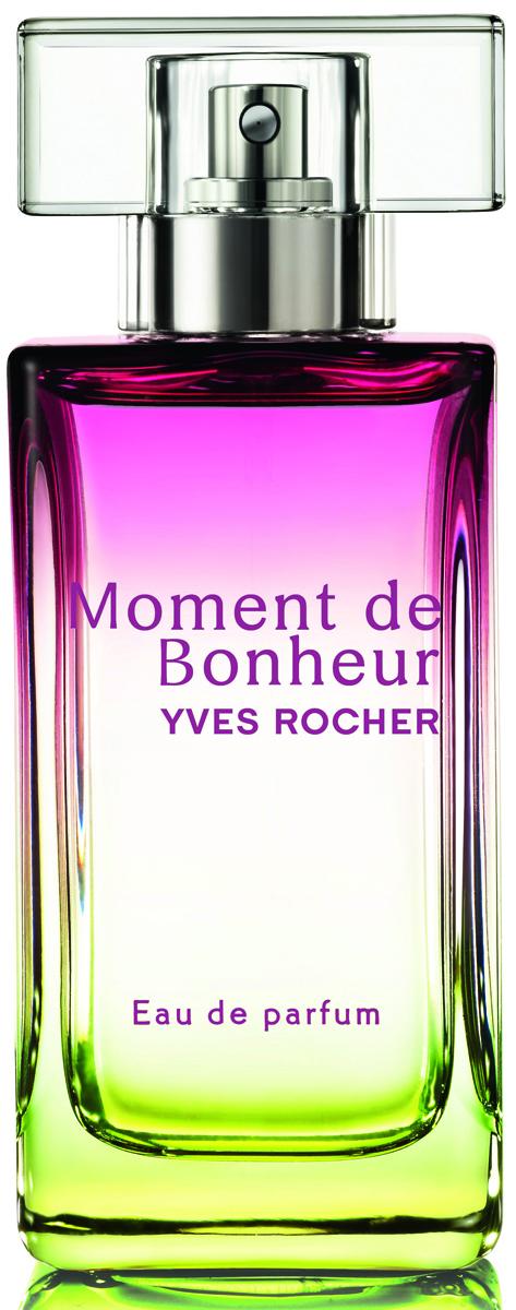 Yves Rocher парфюмерная вода Момент счастья, 50 мл33013Излучайте счастье' женственность и уверенность в себе с ярким' свежим' зеленым' цветочным ароматом Розы. Растительное сырье:Эссенция ГераниАбсолют Розы ЦентифолииЭссенция Кедра