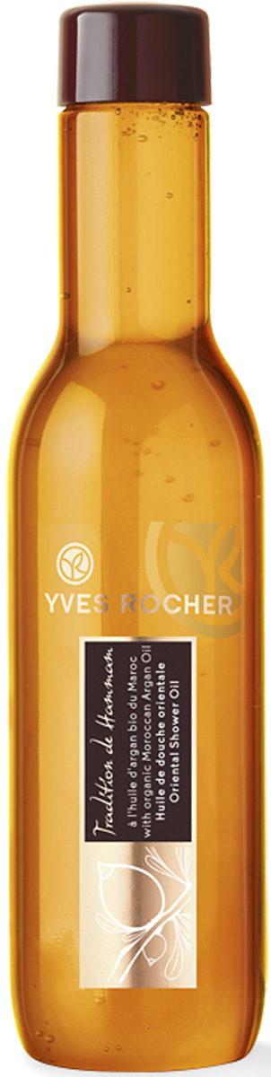 Yves Rocher восточное масло для душа, 200 мл45289Масло Аргании БИО из Марокко издревле славится своими исключительными питательными свойствами. Формула янтарного цвета, обогащенная маслом Аргании БИО, превращаясь в нежнейшую воздушную пену, тает на коже и обволакивает ее мягкой шелковистой вуалью с упоительным ароматом.Подарите себе момент истинного расслабления! Масло для душа, превращаясь в нежнейшую воздушную пену, тает на Вашей коже и окутывает ее мягкой атласной вуалью с упоительным ароматом. Ваша кожа очищена, а Вы расслаблены и успокоены, словно после целого дня, проведенного в хаммаме.Его+: Шелковистая формула ухода, превращаясь в воздушную пену, тает на Вашей коже.