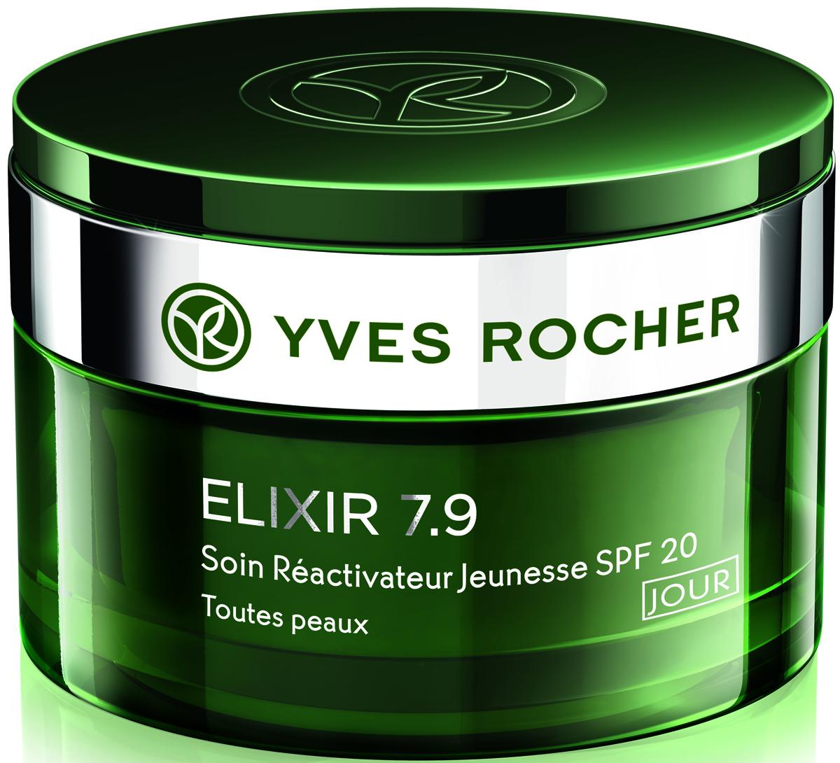 Yves Rocher дневной уход Реактиватор молодости, нормальная и комбинированная кожа, 50 мл64370Вы ищете многофункциональный антивозрастной уход, потому что у Вас:- выражены возрастные изменения,- уставшая кожа,- морщины и морщинки,- тусклый тон кожи. Антивозрастной Комплекс Elixir 7.9:- объединяет 7 активных растительных компонентов, уменьшающих воздействие катализаторов старения*- стимулирует кожу, активизируя ее потенциал молодости: в 4 раза больше коллагена*.В поверхностных слоях кожи: стирает следы усталости, разглаживает микрорельеф, восстанавливает сияние.В глубоких слоях кожи: сокращает морщины, восстанавливает ее структуру, дарит тонус.Уход с легкой текстурой дарит коже атласную гладкость.Протестировано под контролем дерматологов.*Тест in vitro