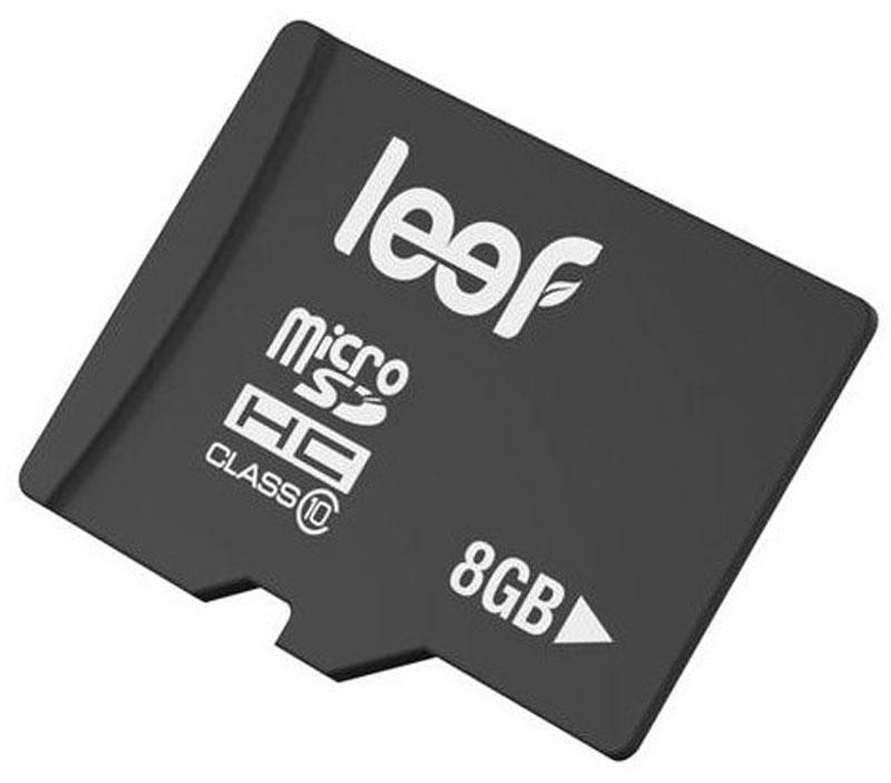 Leef microSDHC Class 10 8GB карта памятиLFMSD-00810RКомпактная и универсальная карта памяти Leef microSDHC Class 10 позволяет надежно хранить фотографии, музыку, фильмы и любую другую информацию. Она выпускается в вариантах с различной емкостью и идеально подходит для планшетных ПК и смартфонов. Более того, карты памяти Leef имеют водонепроницаемое исполнение, поэтому вы не потеряете ваши важные данные, даже если водонепроницаемый кейс смартфона окажется негерметичным. Вся продукция Leef водонепроницаемая, ударопрочная, имеет пылезащищенный корпус и устойчива к работе в экстремальных температурных условиях.