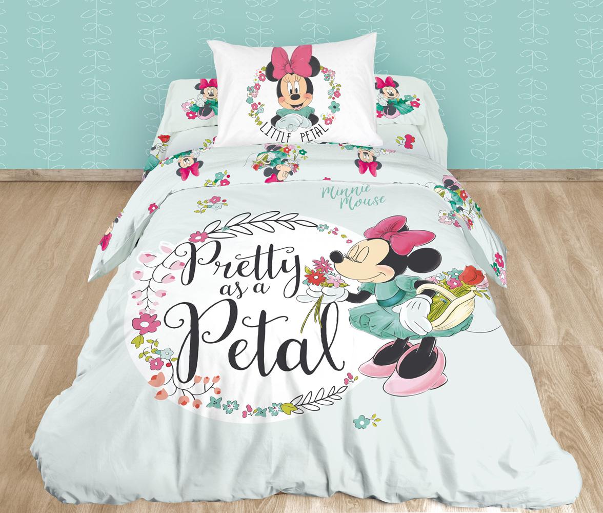 Комплект белья детский Minni Maus, 1,5-спальный, наволочки 70x70, цвет: светло-серый712515