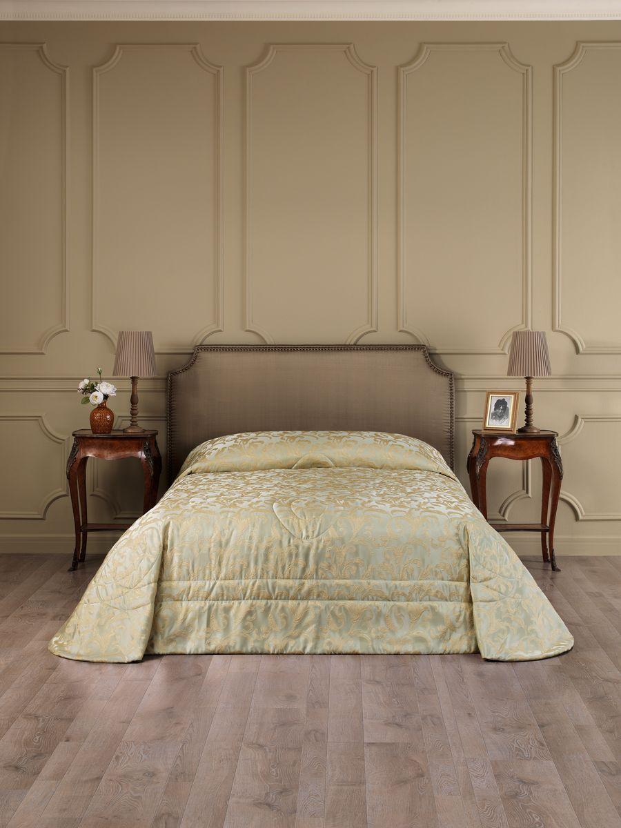 Покрывало Estia Грандис, цвет: оливковый, 240 х 260 см покрывало karna покрывало evony цвет пудра 240х260 см