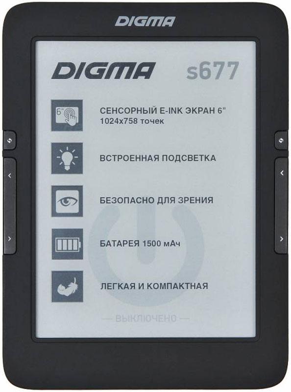 Digma S677, Black электронная книга -
