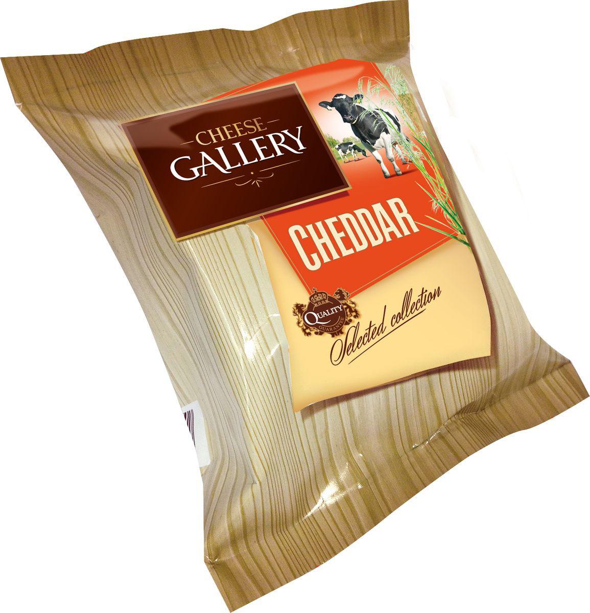 Cheese Gallery Сыр Чеддер красный, 45%, 250 г nuts bank крем ореховый фисташковый 250 г