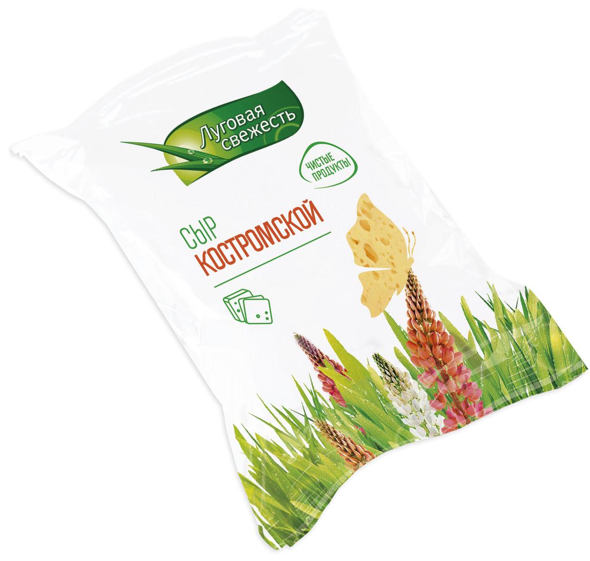 Луговая Свежесть Сыр Костромской, 45%, 225 г вафли обожайка вкус шоколад 225 г
