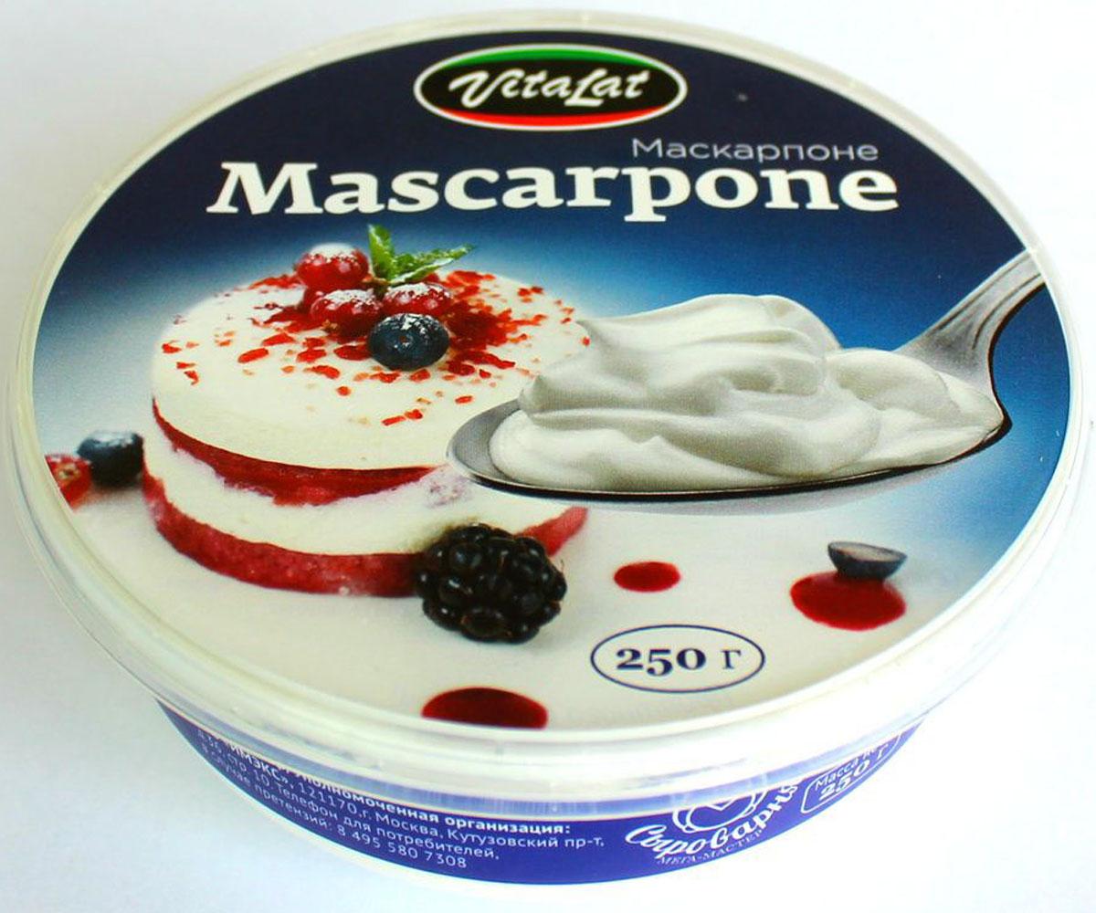 Vitalat Сыр Маскарпоне, 80%, 250 г331-255Легендарный итальянский сливочный сыр известен с 16 века и берет свое начало в регионе Ломбардия. Для маскарпоне характерен высокий процент содержания жиров и нежная кремообразная консистенция. Сыр входит в состав невероятного количества кондитерских изделий, а также является неизменным компонентом всемирно известных десертов маскарпоне и чизкейка. Любители изысканного завтрака с удовольствием добавляют этот в блинчики с красной икрой и зеленью, тосты с норвежской семгой и в любые другие закуски в качестве утонченной альтернативы сливочного масла.Пищевая ценность на 100 грамм продукта: жиры - 30,0 г, белки - 6,5 г, углеводы - 3,0 г. Энергетическая ценность на 100 г: 362,0 ккал.