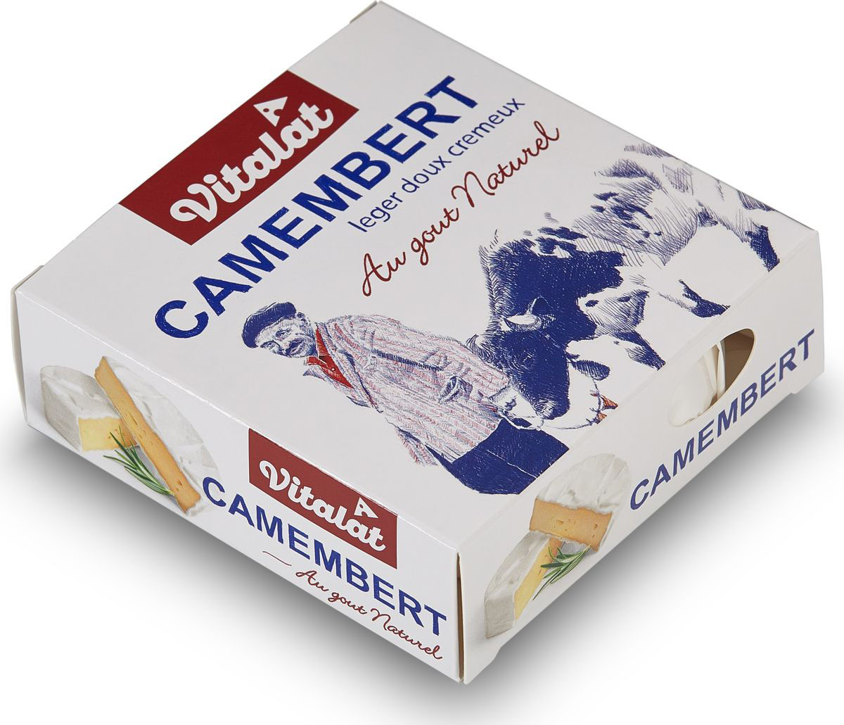 Vitalat Сыр Камамбер, 45%, 125 г331-261Камамбер – один из самых распространенных мягких французских сыров в мире Его история начинается с конца 17 века Он узнаваем своей натуральной нежной корочкой, покрытой специальной пищевой белой плесенью без резкого запаха Для этого сорта