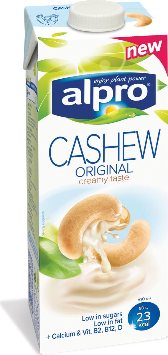 Alpro Напиток с Кешью обогащенный кальцием и витаминами, 1 л670-100Alpro Кешью – это нежный, кремовый напиток со вкусом орехов кешью, которым можно насладиться во время завтрака, использовать для приготовления оригинальных коктейлей или просто утолить жажду. Источник кальция и витаминов B2, B12, D и E. Пищевая ценность в 100 мл продукта:жиры - 1,1 г., белки - 0,5 г., углеводы - 2,6 г.Энергетическая ценность в 100 мл продукта: 23 Ккал.