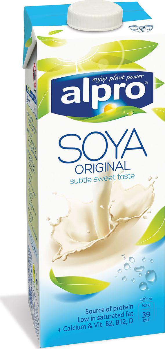 Alpro Соевый напиток, обогащенный кальцием и витаминами, 1 л соярус напиток соевый сливочный 0 93