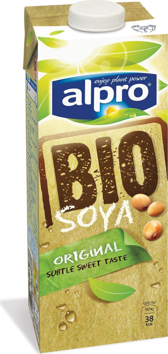 Alpro Bio Nature Соевый напиток, натуральный, 1 л любятово печенье сахарное черничное со злаками 171 г