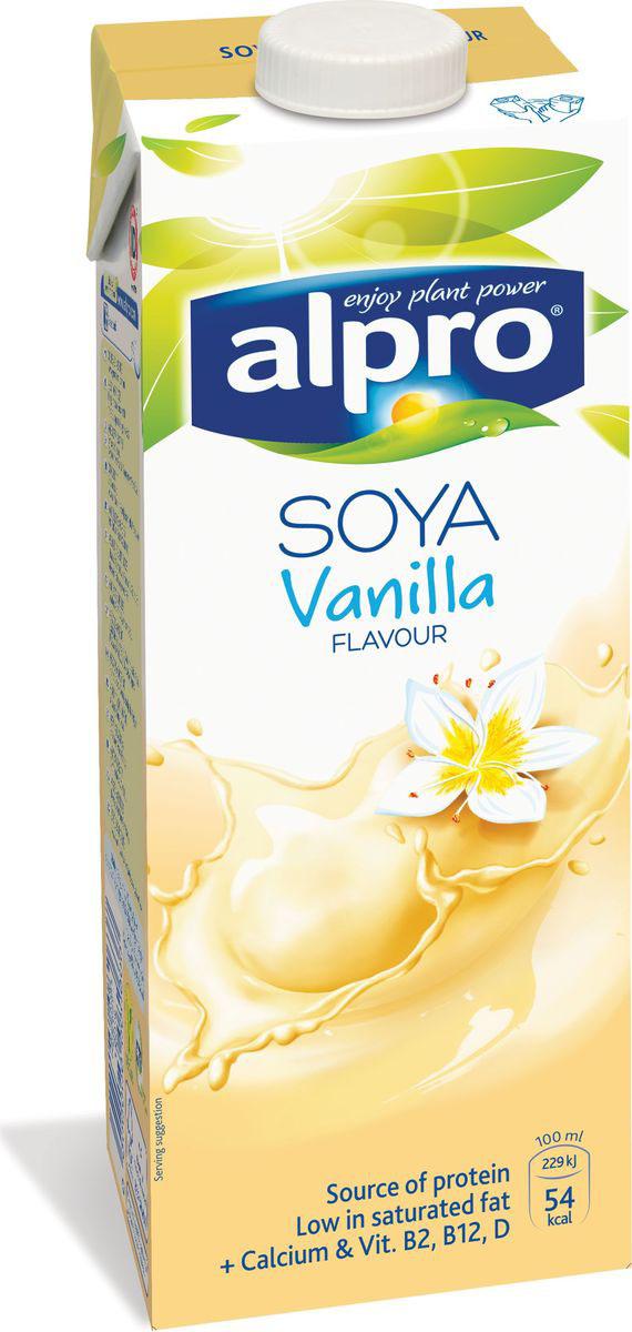 Alpro Соевый напиток со вкусом Ванили обогащенный кальцием и витаминами, 1 л соярус напиток соевый сливочный 0 93