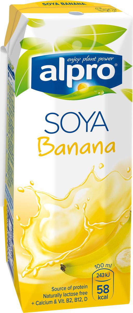 Alpro Соево-банановый напиток, обогащенный кальцием и витаминами, 0,25л
