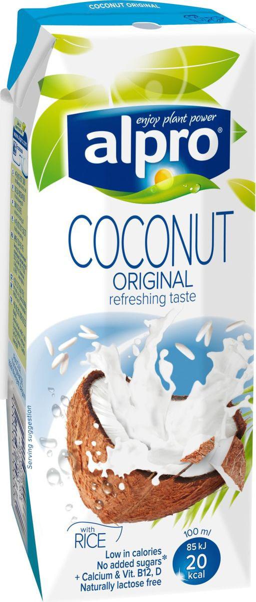 Alpro Кокосовый напиток с Рисом, обогащенный кальцием и витаминами, 0,25л670-240Кокосовый напиток Alpro, - это освежающий вкус тропиков и всего лишь 40 калорий в одном стакане. Идеальноподойдет для каждого, кто выбирает здоровый образ жизни и сбалансированное питание. Источник кальция и витаминов B12 и D. Пищевая ценность в 100 мл продукта: жиры - 0,9 г., белки - 0,1 г., углеводы - 2,7 г. Энергетическая ценность в 100 мл продукта: 20 Ккал.