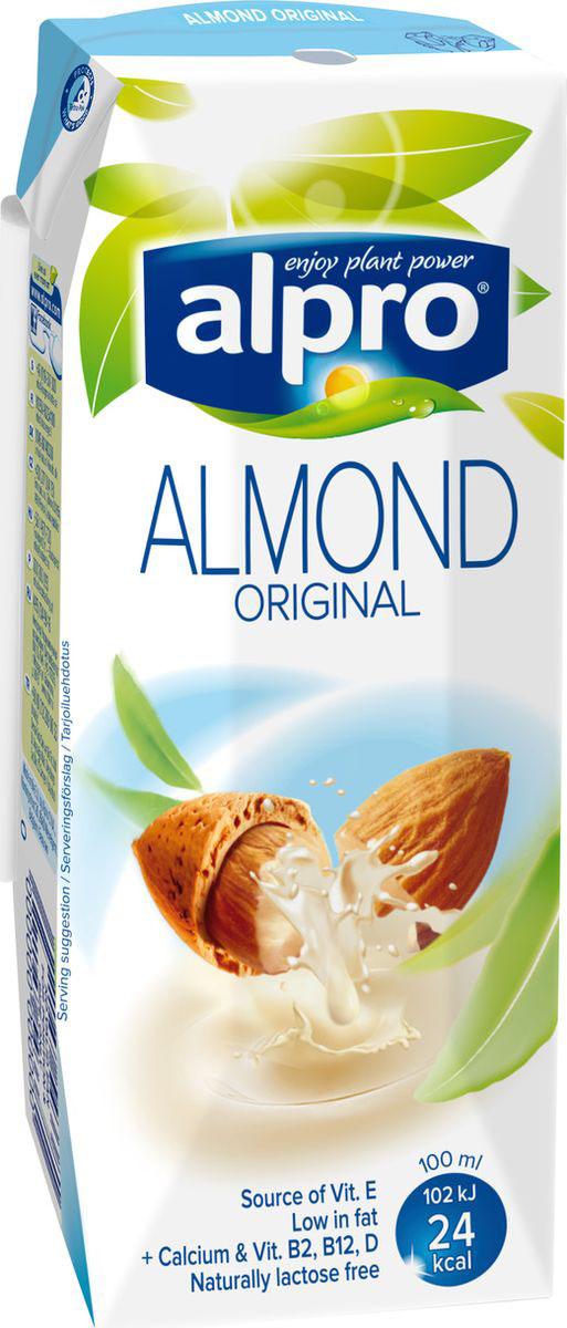 Alpro Миндальный напиток, обогащенный кальцием и витаминами, 0,25л674-115Нежный, слегка обжаренный средиземноморский миндаль и чистая вода создают неповторимый вкус миндального напитка Alpro. Источник витамина E. Пищевая ценность в 100 мл. продукта:жиры-1,1 г., белки-0,5 г., углеводы-3,0 г.Энергетическая ценность в 100