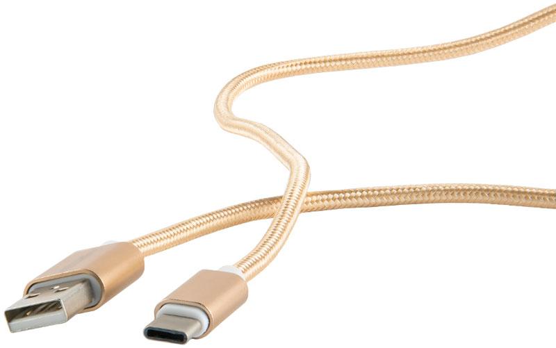 Red Line дата-кабель USB-Type-C 2.0, Gold (нейлоновая оплетка)УТ000011691Дата-кабель Red Line позволяет подключить устройства с разъемом USB Type C к порту USB на компьютере для синхронизации и зарядки. Кроме того, его можно подключить к адаптеру питания USB, чтобы зарядить устройство от розетки. Гибкий и эластичный кабель USB - Type-C выдержит сгибание и свертывание, обеспечит хорошую скорость передачи данных и эффективную зарядку.