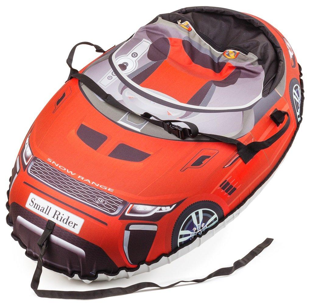 Small Rider Надувные санки-тюбинг Snow Cars 2 Ranger цвет красный1085296Материал верха - водонепроницаемая плотная ткань Poly Oxford. Она делает Snow Cars воздушными в отличие от тяжеловесных ватрушек с тканью тент (ПВХ 600 гр). Новые ватрушки Snow Cars 2 имеют более округлую форму и большую 16-ую камеру, делающую стенки уже, благодаря чему ребенок внутрь садится достаточно глубоко и не выпадет во время спуска!Все тюбинги (Snow Cars 2, Cosmic Zoo UFO, Space Race) комплектуются фирменной автокамерой с маркировкой Small Rider которая имеет минимум запаха и сделана по японской технологии. Наш дизайн не сотрется и всегда будет четкий и яркий благодаря полноцветной высококачественной цифровой печати по ткани. Всегда виден каждый элемент. Наличие ремней безопасности. Также наши ватрушки имеют новую более округлую форму, благодаря чему ребенок более глубоко садится внутрь и не вывалится, а также тюбинг лучше скатывается с горки (меньше вероятность опрокидывания).