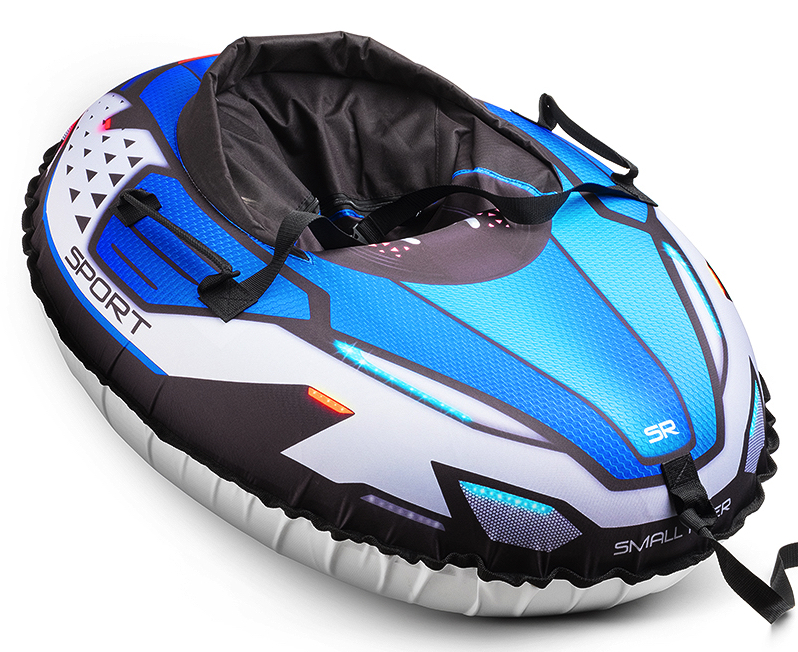 Small Rider Надувные санки-тюбинг с сиденьем и ремнями Asteroid Sport цвет синий тюбинг small rider snow cars 3 bm blue 1387733