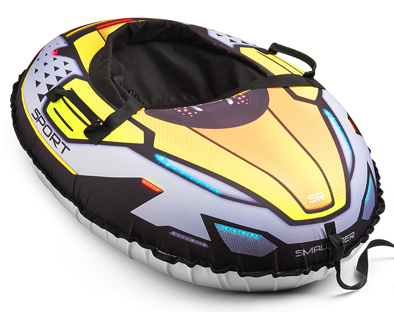Small RiderНадувные санки-тюбинг с сиденьем и ремнями Asteroid Sport цвет зеленый Small Rider