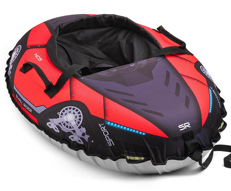 Small Rider Надувные санки-тюбинг с сиденьем и ремнями Asteroid Cosmos цвет красный