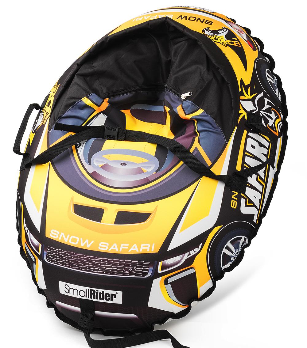 Small Rider Надувные санки-тюбинг с сиденьем и ремнями Snow Cars 3 Сафари цвет желтый
