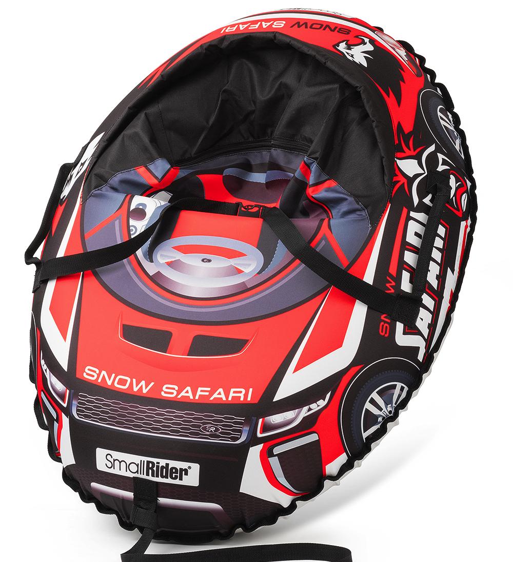 Small Rider Надувные санки-тюбинг с сиденьем и ремнями Snow Cars 3 Сафари цвет красный