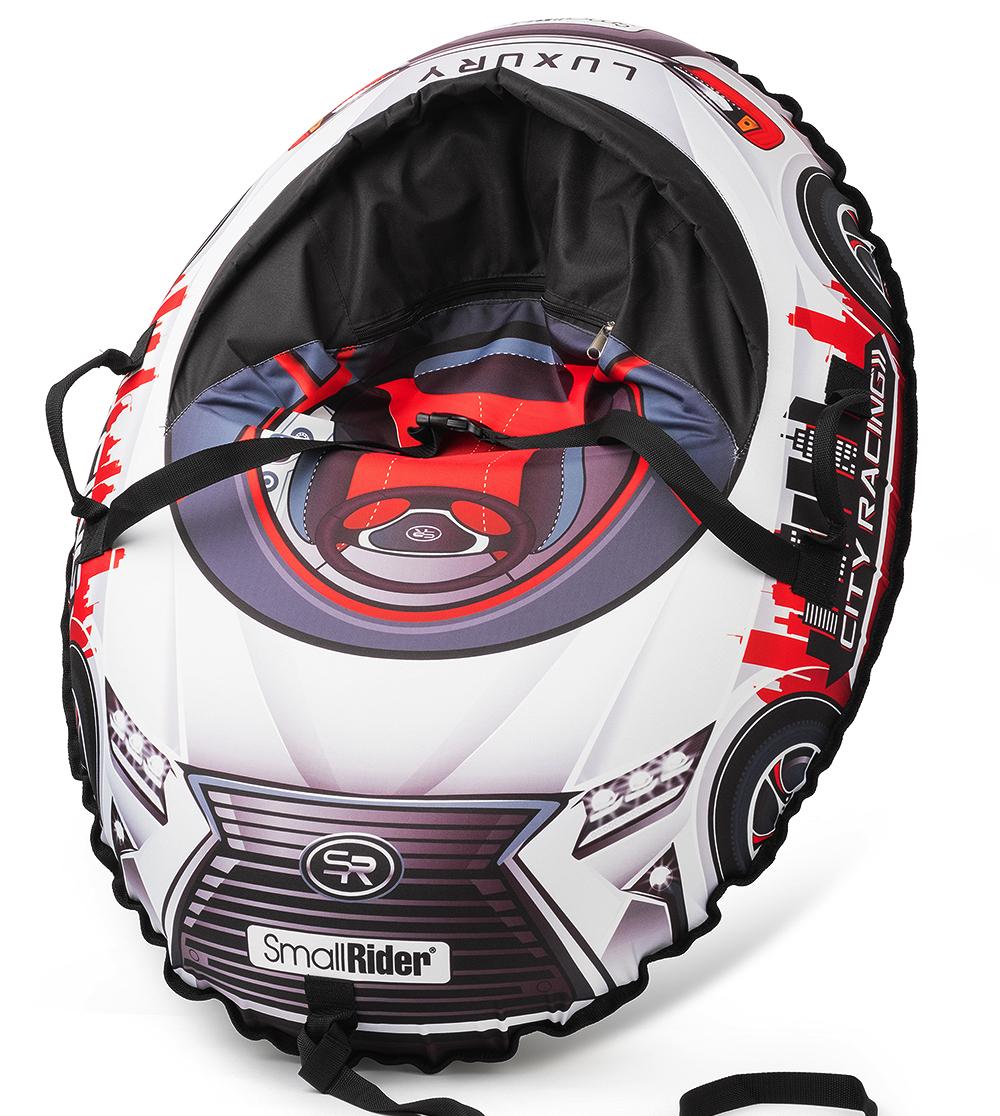 Small Rider Надувные санки-тюбинг с сиденьем и ремнями Snow Cars 3 LX цвет красный цены